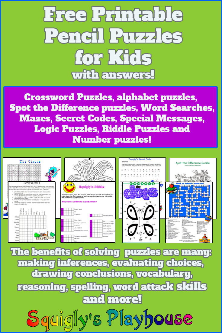 Puzzles for Kids at Squigly's Playhouse
