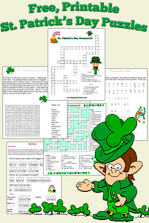 photograph about St Patrick Day Puzzles Printable Free referred to as Printable St. Patricks Working day Puzzles for Children Squiglys