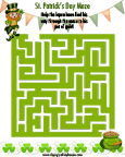 St. Patrick's Day Maze Puzzle
