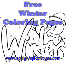 Free printable winter and winter holiday coloring pages for kids. Use them at home or in the classroom.